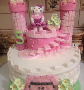 Сделаю торт на заказ,любой сложности...