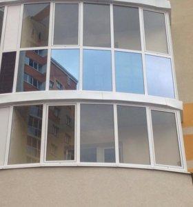 Алюминиевая балконная рама (окно)