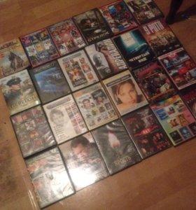 Диски с фильмами и +играми