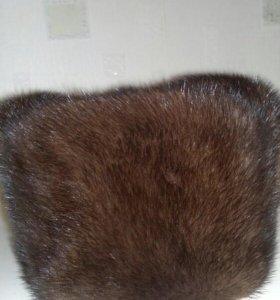 Шапка норковая мужская,58размер