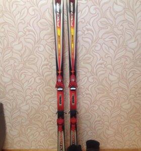 Горные лыжи+ботинки+ крепление