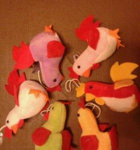 Петухи (мягкая игрушка)
