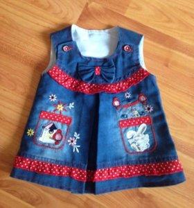 Платье на новорожденную малышку