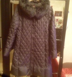 Пуховое пальто,стёганное!