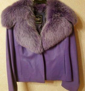 Нат.кожа и мех, новая курточка
