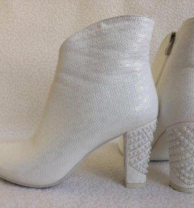 Свадебные ботильоны, полусапожки, туфли 40р.