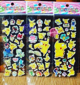 """Наклейки известного мультсериала аниме """"Pokémon"""""""