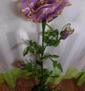 Роза из бисера,напольная