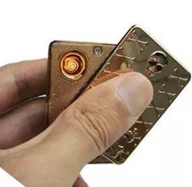 Зажигалка с USB аккумуляторная ,металическая