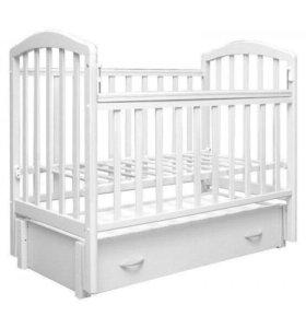 Кроватка-маятник Алита 6 белая