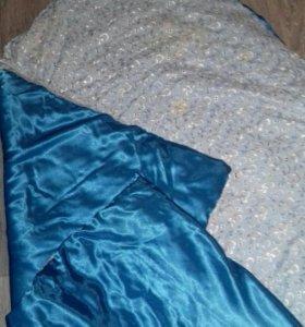 Одеяло уголок бант на выписку