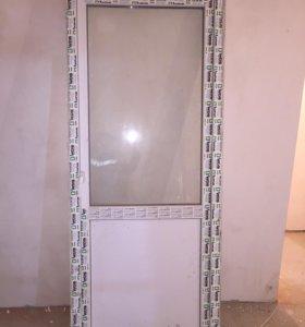 Металлопластиковая дверь 213,5х88