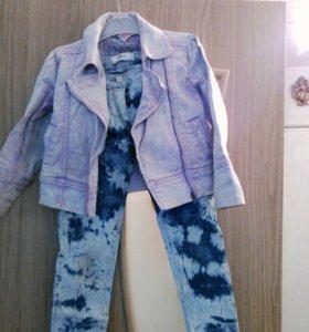 Джинсы(Германия)  и джинсовая куртка (next)