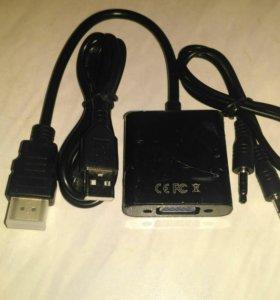 Переходник из HDMI в VGA активный
