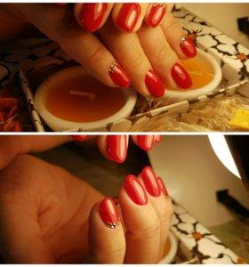 Наращивание ногтей (гель)