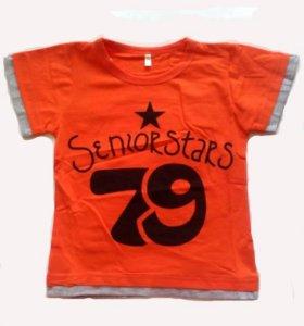 Футболка 79 оранжевая для мальчика 98р.