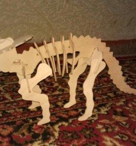 Динозавр ручная работа конструктор