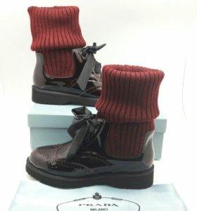 Ботинки имитация носка prada