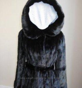 черный полушубок (норка)