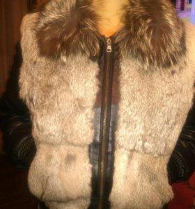 Куртка кожаная зимняя.