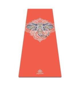 Коврик для йоги и фитнеса СЛОН Art Yogamatic