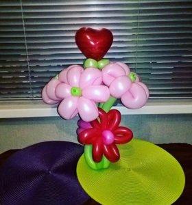Букет 5 ромашек нежно розового цвета, вставка 💝