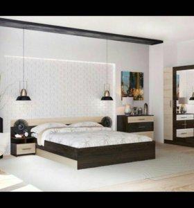 Спальня (кровать, шкаф, комод, 2 тумбочки)