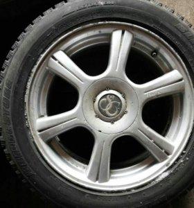 Колеса литье r16 4шт+ 2 штамповки r13 4×100