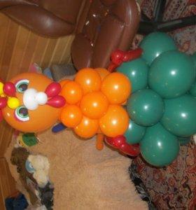 Оформление праздника воздушными шарами.закачка шар