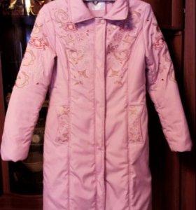 Пальто стеганое с синтепоном