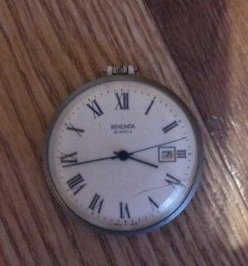 Старинные карманные часы sekonda 19 jewels.