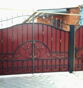 Ворота с калиткой 1