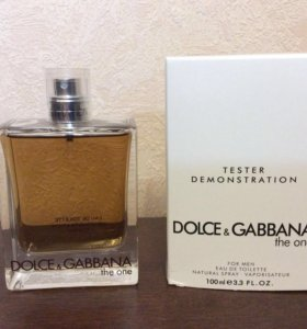 ✅ tester DOLCE & GABBANA the one for men