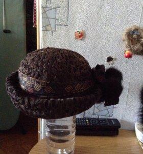 Шляпка из натурального меха