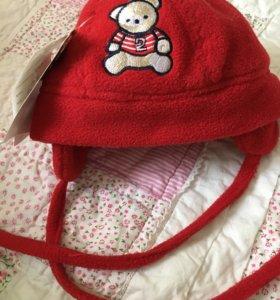 Шапочка флис, детская на 1- 2 годика