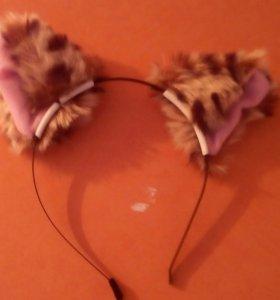 Ободок с ушами кошки