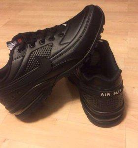 Новые Nike air max shox натуральная кожа