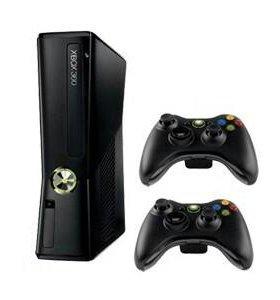 Xbox 360 slim прошитая + 80 дисков