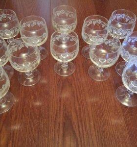 Бокалы под вино фужеры стаканы стаканчики