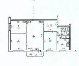 4-х комнатная квартира, 60 м², 3/5 эт.