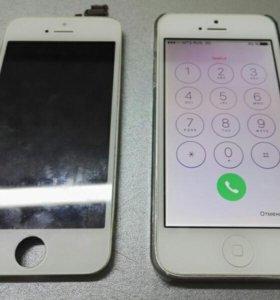 Дисплей на iPhone 4, 4s, 5, 5c, 5s, 6 с заменой