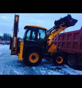 JCB уборка погрузка и вывоз снега тел 89851645151