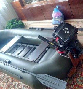Лодка АЭРО s -270 и мотор hdx f2.6