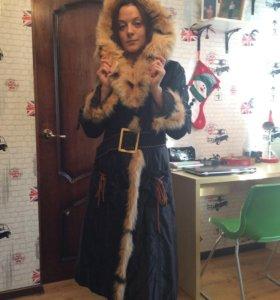Пальто зимнее, пехора
