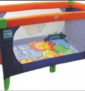 Манеж кровать 2-х уровневый