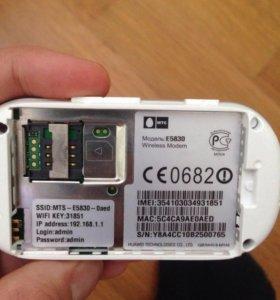 MTS WIFI 3G модем
