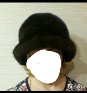 Норковая шапка-шляпка