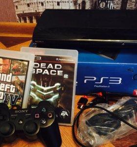 Срочно! Sony PlayStation 3 Super Slim + 2 игры.