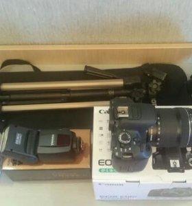 Фотоаппарат canon + 2 - й объектив портретник,