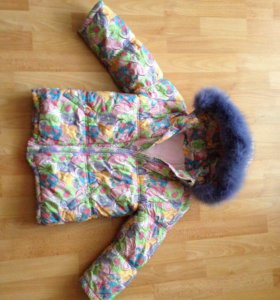 Зимний костюм на девочку рост 116см
